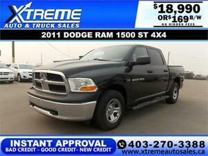 2011 DODGE RAM 1500 ST CREW CAB *INSTANT APPROVAL* $169/BW!