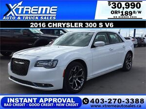 2016 Chrysler 300 S LOADED $0 DOWN $189 b/w APPLY NOW DRIVE NOW