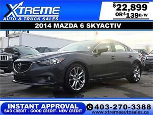 2014 Mazda 6 iGRAND TOURING $139 BI-WEEKLY APPLY NOW DRIVE NOW