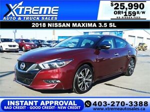 2018 NISSAN MAXIMA 3.5 SL *INSTANT APPROVAL* $0 DOWN $159/BW