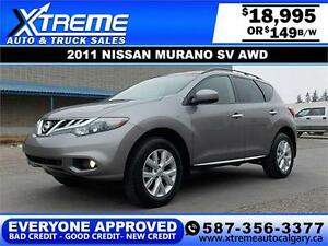 2011 Nissan Murano SV AWD $149 bi-weekly APPLY NOW DRIVE NOW
