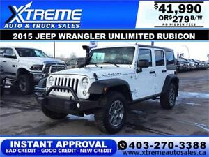 2015 JEEP WRANGLER UNLIMITED RUBICON $279 BI-WEEKLY APPLY NOW