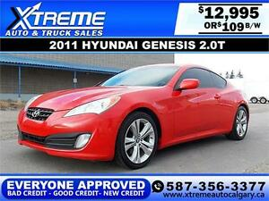2011 Hyundai Genesis 2.0T $109 bi-weekly APPLY NOW DRIVE NOW