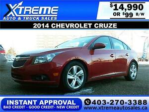 2014 Chevrolet Cruze $99 bi-weekly APPLY NOW DRIVE NOW