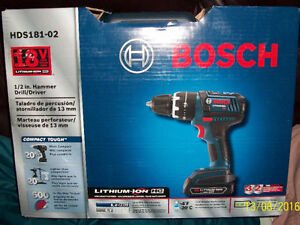Drill Marteau Bosch HDS181-02 18V Compact Robuste  (Pro)