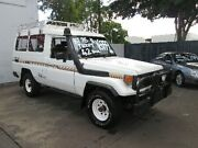 1990 Toyota Landcruiser HJ75RV 6 SEAT White 5 Speed Manual Hardtop Coopers Plains Brisbane South West Preview