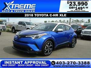 2018 TOYOTA C-HR XLE *INSTANT APPROVAL* $0 DOWN  $149/BW!