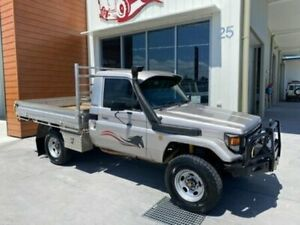 2001 Toyota Landcruiser HZJ79R 50TH ANNIVERSARY SIN Silver Manual Cab Chassis Bells Creek Caloundra Area Preview