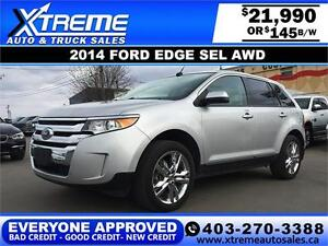 2014 Ford Edge SEL AWD $145 BI-WEEKLY APPLY NOW DRIVE NOW