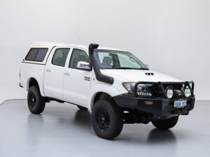 2009 Toyota Hilux KUN26R 09 Upgrade SR5 (4x4) White 5 Speed Manual Dual Cab Pick-up