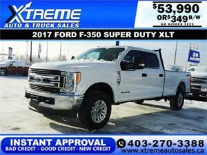 2017 FORD F-350 SUPER DUTY XLT *INSTANT APPROVAL $0 DOWN $349/BW