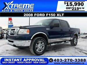 2008 Ford F-150 XLT Triton $219 bi-weekly APPLY NOW DRIVE NOW