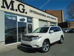 2012 Toyota Highlander Limited 4WD 7 Pass. w/Navi/Leather/Roof