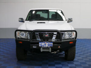 2012 Nissan Patrol GU Viii ST (4x4) White 4 Speed Automatic Wagon