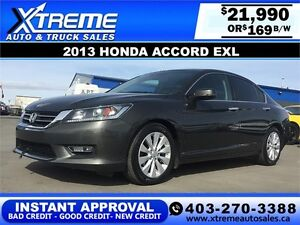 2013 Honda Accord EXL $169 bi-weekly APPLY NOW DRIVE NOW