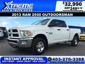 2013 Dodge Ram 2500 Outdoorsman $249 B/W APPLY NOW DRIVE NOW