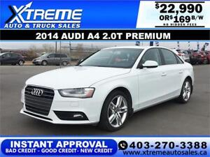 2014 AUDI A4 2.0T PREMIUM $169 BI-WEEKLY APPLY NOW DRIVE NOW