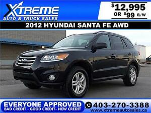 2012 Hyundai Santa Fe AWD $119 BI-WEEKLY APPLY NOW DRIVE NOW