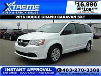 2016 DODGE GRAND CARAVAN SXT $109 B/W *$0 DOWN* APPLY NOW