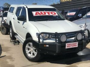 2011 Mitsubishi Triton MN MY12 GLX White 4 Speed Automatic Double Cab Utility Werribee Wyndham Area Preview