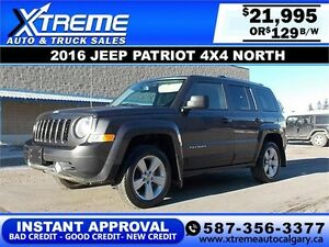 2016 Jeep Patriot 4x4 North $129 bi-weekly APPLY NOW DRIVE NOW