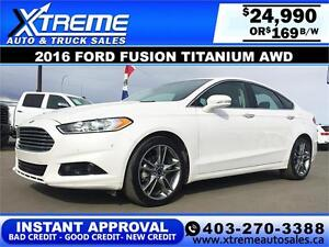 2016 Ford Fusion Titanium AWD $169 BI-WEEKLY APPLY NOW DRIVE NOW
