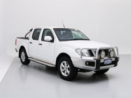 2014 Nissan Navara D40 MY12 Upgrade ST (4x4) White 6 Speed Manual Dual Cab Pick-up Jandakot Cockburn Area Preview