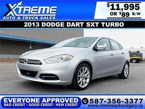 2013 Dodge Dart SXT Turbo $89 BI-WEEKLY APPLY TODAY DRIVE TODAY