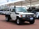 2015 Toyota Landcruiser VDJ79R MY12 Update GXL (4x4) White 5 Speed Manual Cab Chassis