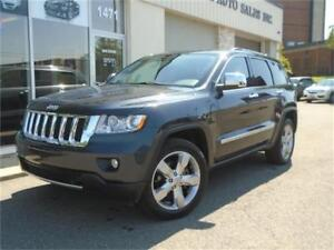 2013 Jeep Grand Cherokee Overland w/Leather/Pano Roof/Navi