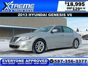 2013 Hyundai Genesis V6 $129 bi-weekly APPLY NOW DRIVE NOW