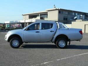 2010 Mitsubishi Triton MN MY10 GLX Silver 5 Speed Manual Double Cab Utility Maidstone Maribyrnong Area Preview