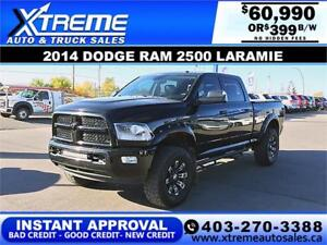 2014 RAM LARAMIE DIESEL LIFTED *INSTANT APPROVAL* $399/BW!