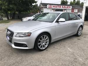 2009 Audi A4 Certified/Quattro/Leather/Roof/Accident Free