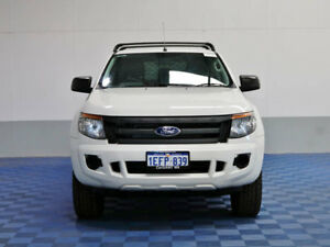 2013 Ford Ranger PX XL 2.2 HI-Rider (4x2) White 6 Speed Automatic Crew Cab P/Up