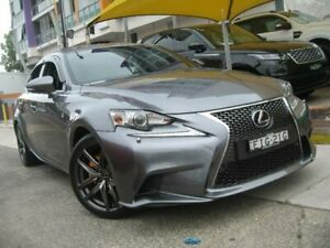 2014 Lexus IS300H AVE30R MY15 F Sport Hybrid Grey Continuous Variable Sedan Homebush Strathfield Area Preview