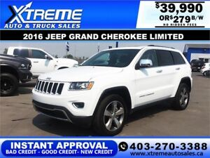 2016 Jeep Grand Cherokee Limited $279 B/W APPLY NOW DRIVE NOW