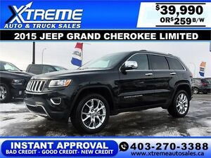 2015 Jeep Grand Cherokee Limited $259 b/w APPLY NOW DRIVE NOW
