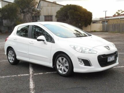 2012 Peugeot 308 Active Turbo White 6 Speed Automatic Hatchback Maidstone Maribyrnong Area Preview
