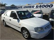 2002 Hyundai Accent LC GL White 5 Speed Manual Hatchback Victoria Park Victoria Park Area Preview