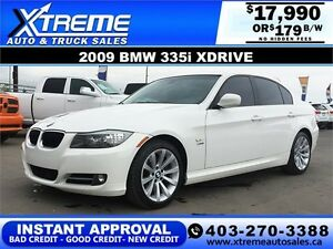2009 BMW 335i XDrive $179 bi-weekly APPLY NOW DRIVE NOW