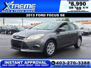 2013 FORD FOCUS SE HATCH $69 bi-weekly APPLY NOW DRIVE NOW