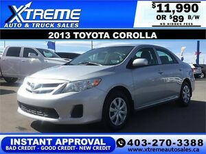 2013 Toyota Corolla Heated Seats $89 b/w APPLY NOW DRIVE NOW