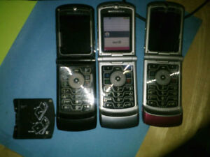 Three Motorola V3's for sale $20 firm for all