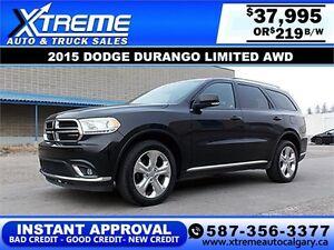 2015 Dodge Durango Limited $219 bi-weekly APPLY NOW DRIVE NOW