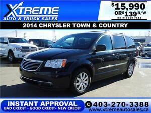 2014 CHRYSLER TOWN & COUNTRY  $139 B/W $0 DOWN APPLY NOW