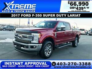 2017 FORD F-350 SUPER DUTY LARIAT *INSTANT APPROVAL $439/BW!