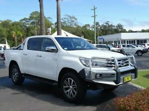 2015 Toyota Hilux GUN126R SR5 (4x4) White 6 Speed Automatic Dual Cab Utility South Nowra Nowra-Bomaderry Preview