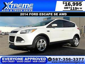 2014 Ford Escape SE AWD $119 bi-weekly APPLY NOW DRIVE NOW