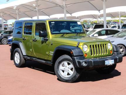 2007 Jeep Wrangler Unlimited JK Sport (4x4) Green 6 Speed Manual Softtop